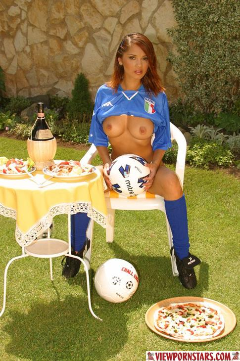 Italy's Very First Soccer Porn Star HOT !